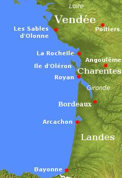 Guide to Vende Charentes Poitou and western coastal France