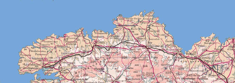 Map 0f South Of France.Maps Of Brittany