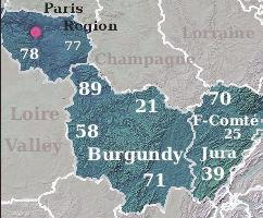 Burgundy & Paris region