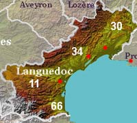 Coastal departments of Languedoc