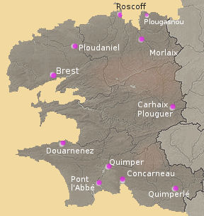 Map of Finistere