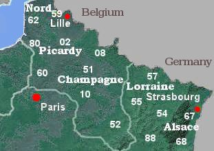 Map Of France North.Bed And Breakfast B B In North East France 2019